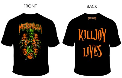 "NECROPHAGIA - KILLJOY TRIBUTE SHIRT ""FULCI\"" (XL)"