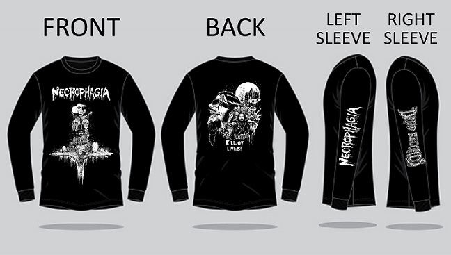 (PRE-ORDER) NECROPHAGIA - TRIBUTE SHIRT 3 (Sizes S - XXL)