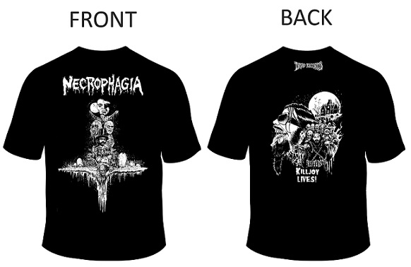 (PRE-ORDER) NECROPHAGIA - TRIBUTE SHIRT 3 (Sizes 3X to 5X)